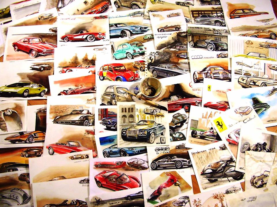 Cum a ajuns un designer de maşini să deseneze  cu …cafea