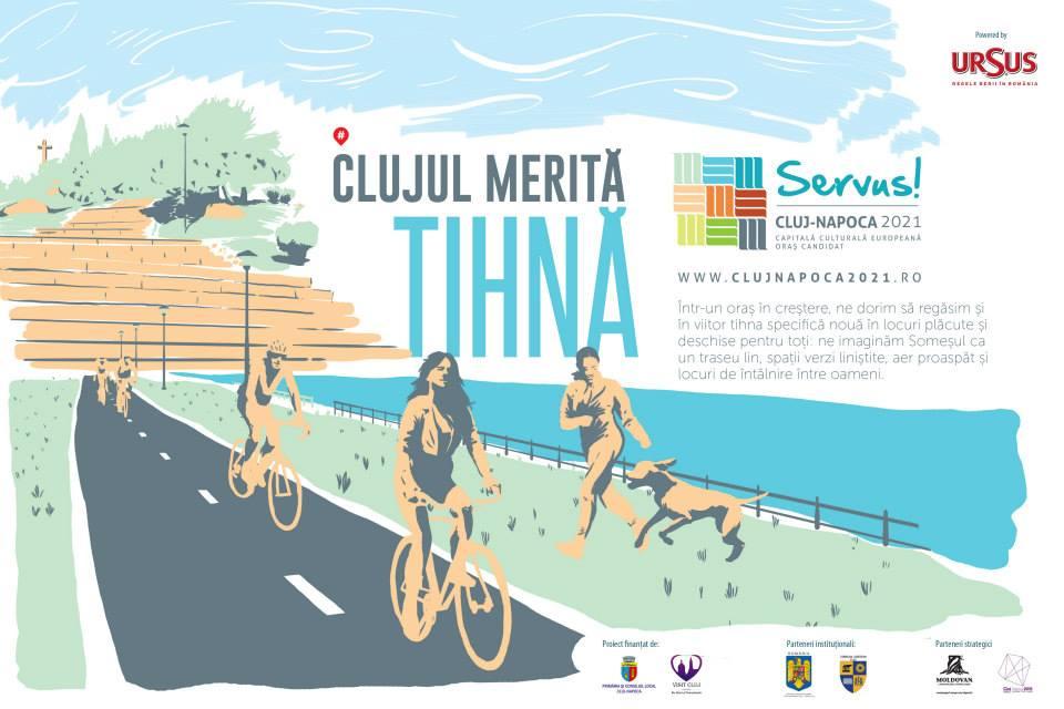 Promenada Someşului, posibil loc de evenimente în Cluj Capitală Culturală Europeană 2021