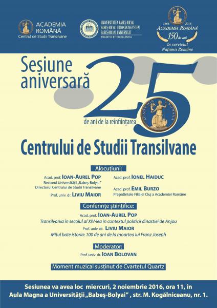 25 de ani de la reînființarea Centrului de Studii Transilvane