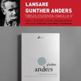 """""""Obsolescența omului"""", lansare de carte și discuție la Book Corner"""