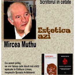 Profesorul Mircea Muthu, conferință despre estetică și lansări de carte la Uniunea Scriitorilor