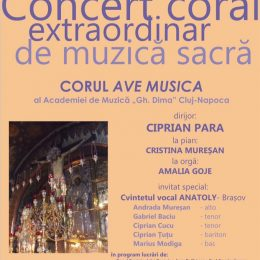 """Concert coral extraordinar la Academia de Muzică ,,Gheorghe Dima"""""""