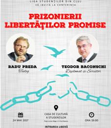 """Dialog despre """"libertățile promise"""" între Teodor Baconschi și Radu Preda"""