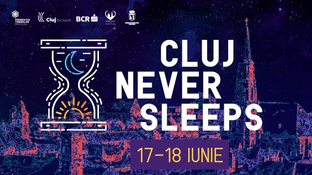 Cluj Never Sleeps #4. Proiecţii cartate pe clădiri, Midnight Snack în miez de noapte și alte evenimente într-o singură noapte