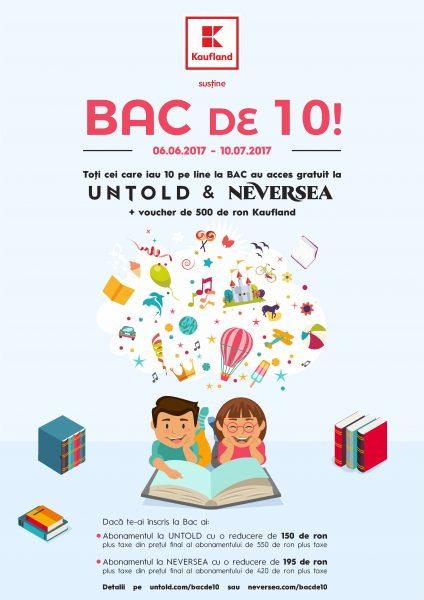 Campania BAC de 10 trimite absolvenții la Untold și Neversea