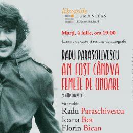 """Radu Paraschivescu își lansează bestsellerul """"Am fost cândva femei de onoare"""" la Humanitas Cluj"""
