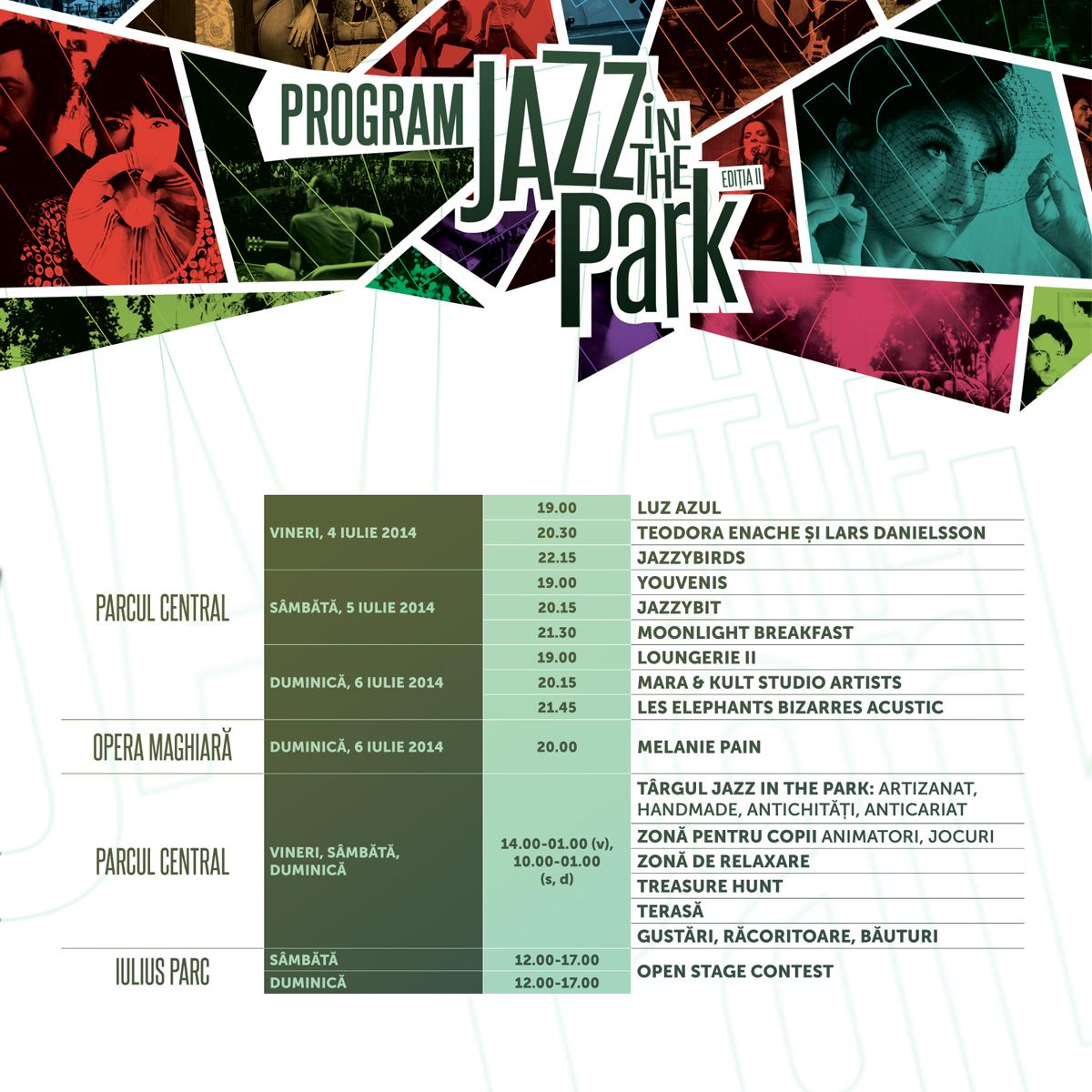 Program Jazz in the Park