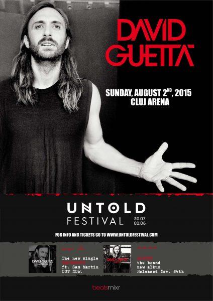 Davit Guetta final - fara untold - poster A3
