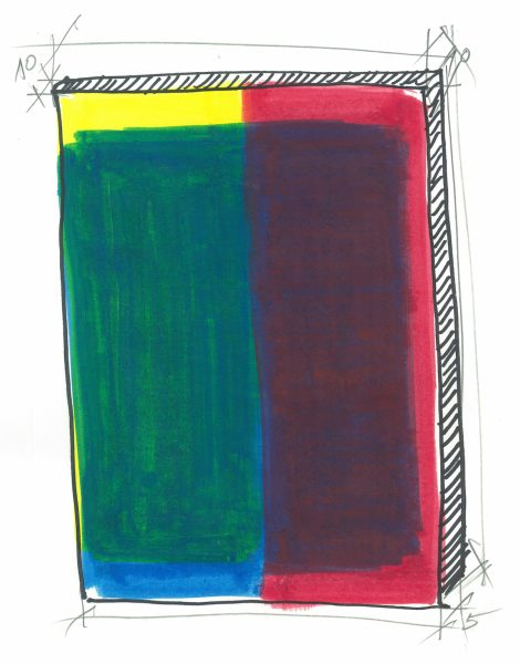 Radu Comsa, Studiu de compozitie si culoare, 2016_foto credit galeria Sabot