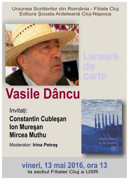 Afis Vasile Dancu 1 mc